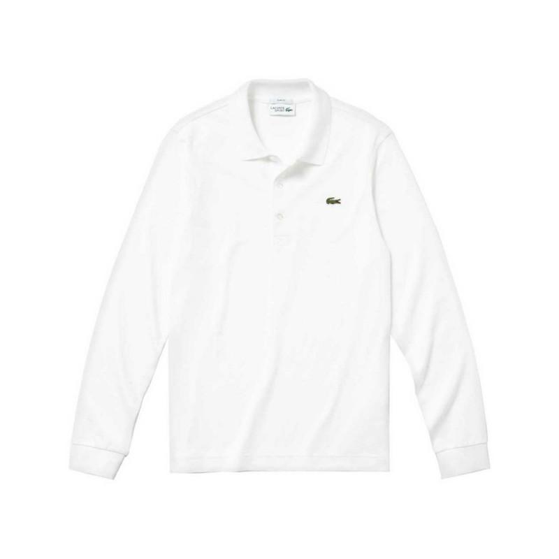 Polo slim fit à manches longues Lacoste SPORT en coton ultra léger Blanc