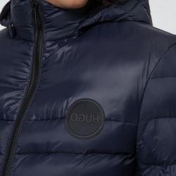 Veste Hugo Boss Slim Fit matelassée avec capuche amovible à logo imprimé