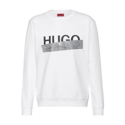 Sweat Dicago_U204 Hugo Boss en coton interlock avec logo de la nouvelle saison