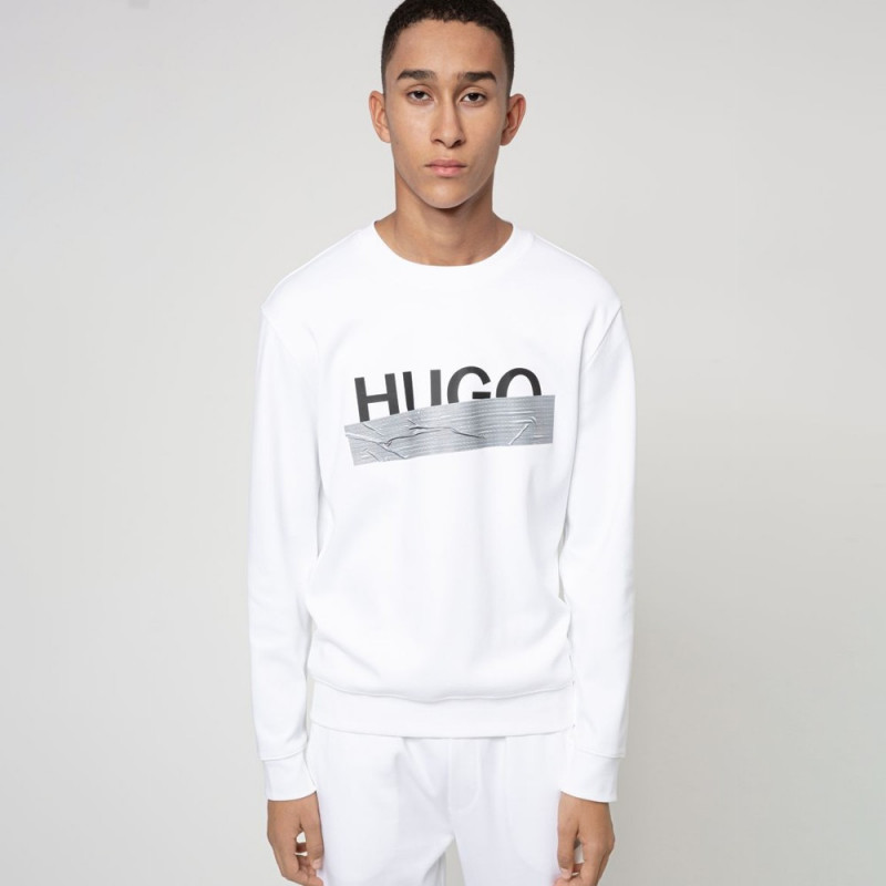 Sweat Dicago_U204 Hugo Boss en coton interlock avec logo de la nouvelle saison