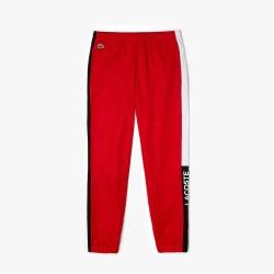 Pantalon de survêtement Lacoste SPORT color-block léger Rouge