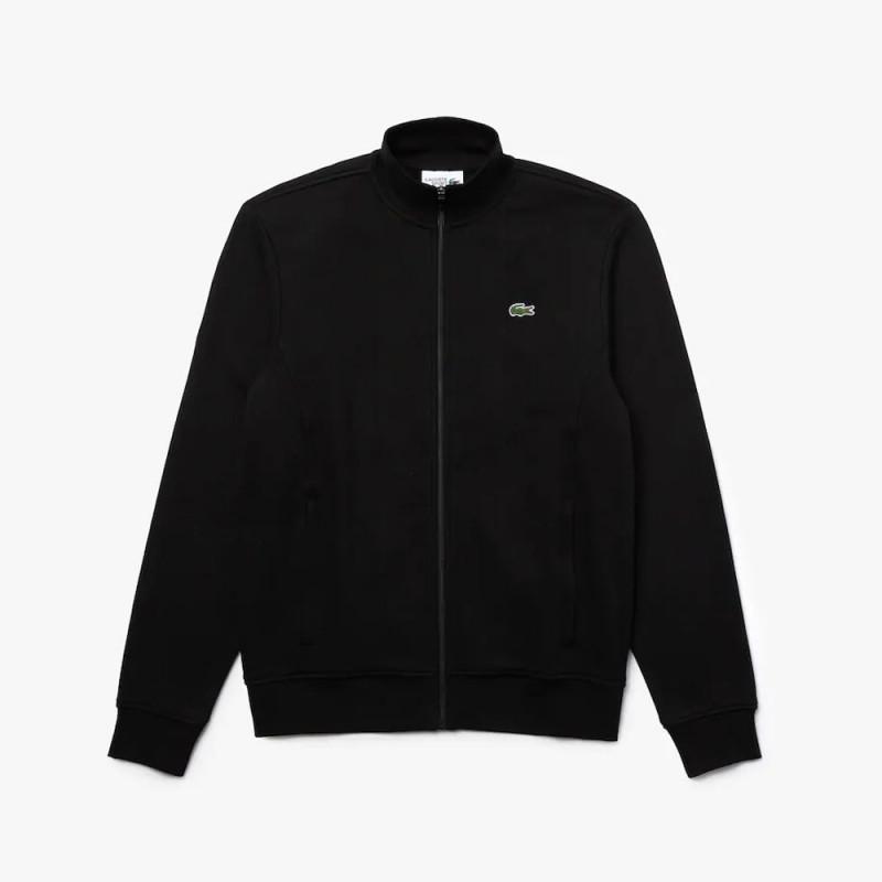 Sweatshirt zippé Lacoste SPORT en molleton de coton Noir
