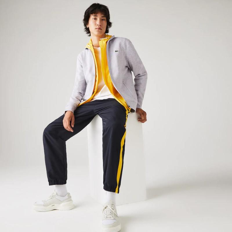 Sweatshirt zippé Lacoste SPORT en molleton de coton Gris