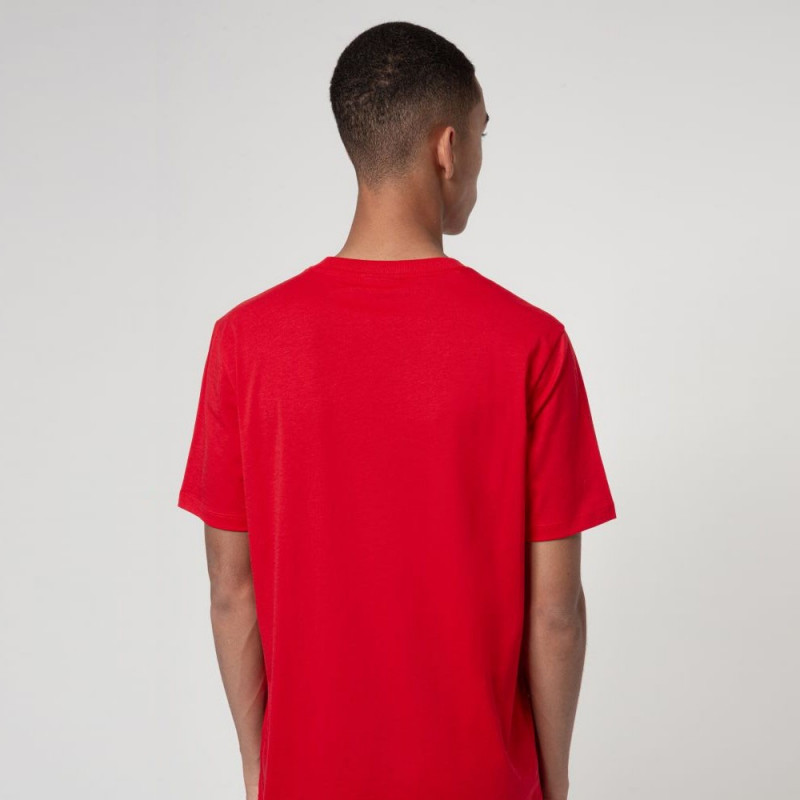 T-shirt Hugo Boss Regular Fit Rouge avec logo artistique