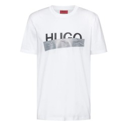 T-shirt Hugo Boss Regular Fit Blanc avec logo artistique