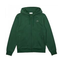 Sweatshirt à capuche Lacoste SPORT léger bi-matière Vert