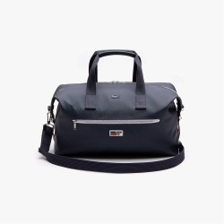 Sac polochon LACOSTE weekender eclipse blanc rouge