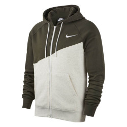 Sweat zippé à capuche Nike Swoosh VVert