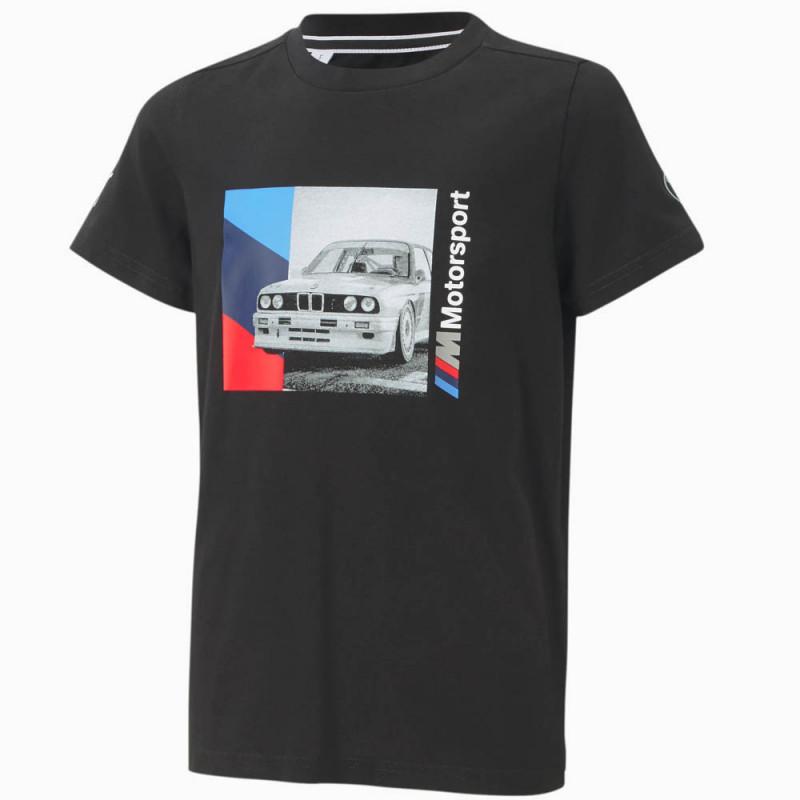 T-shirt Puma BMW M Motosport Noir Pour Enfant
