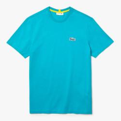 T-shirt Lacoste x National Geographic en coton biologique uni Bleu