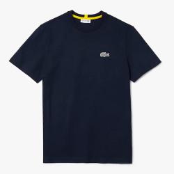 T-shirt Lacoste x National Geographic en coton biologique uni Bleu Marine