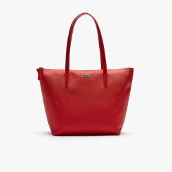 Petit sac cabas Lacoste zippé L.12.12 Concept uni Rouge