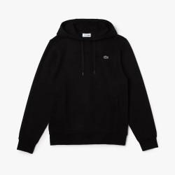 Sweatshirt à capuche Lacoste SPORT en molleton uni Noir