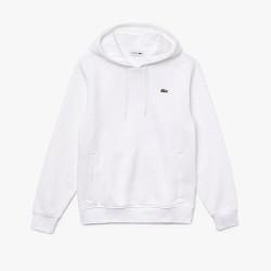 Sweatshirt à capuche Lacoste SPORT en molleton uni Blanc