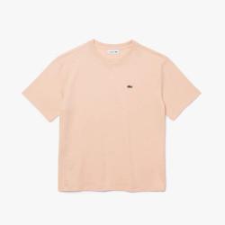 T-shirt Lacoste à col rond en coton Premium Rose Pale