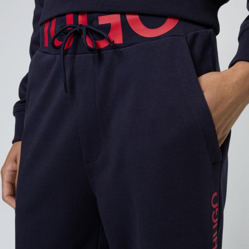 Bas de survêtement DUROS211 Hugo Boss en coton interlock avec logo à la taille