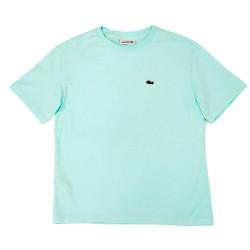 T-shirt Lacoste à col rond en coton Premium Turquoise