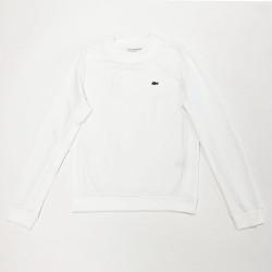 Sweatshirt Tennis Lacoste SPORT en molleton uni Blanc