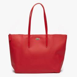 Sac cabas Lacoste zippé L.12.12 Concept uni Haut Rouge