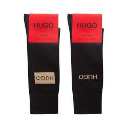 Lot de deux paires de chaussettes Hugo Boss 2P GIFTSET LUREX CC avec logos dorés