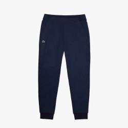 Pantalon de jogging uni Lacoste avec empiècements en mesh