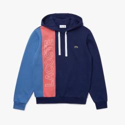 Sweatshirt Lacoste à capuche en molleton color-block avec marquage
