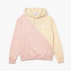 Sweatshirt unisexe à capuche Lacoste LIVE loose fit en molleton bicolore