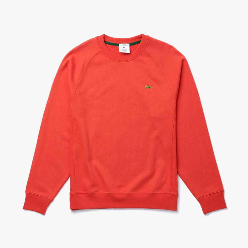 Sweatshirt unisexe Lacoste LIVE ample en molleton de coton