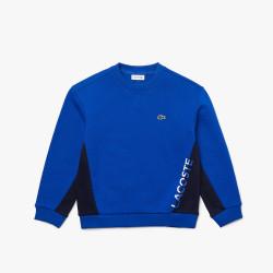 Sweatshirt à col rond Lacoste Garçon en molleton bicolore avec marquage