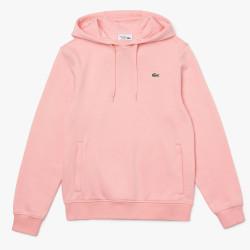 Sweatshirt à capuche Lacoste SPORT en molleton uni Rose