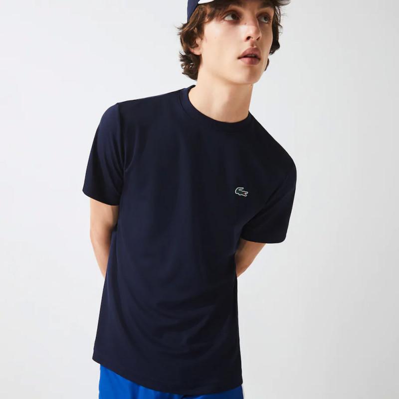 T-shirt Lacoste SPORT en piqué respirant uni