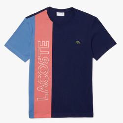 T-shirt Lacoste à col rond color-block avec marquage