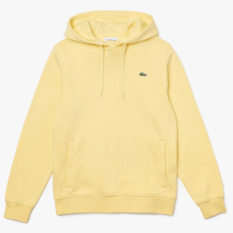 Sweatshirt à capuche Lacoste SPORT en molleton uni Jaune