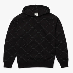 Sweatshirt à capuche unisexe Lacoste LIVE ample coton monogramme