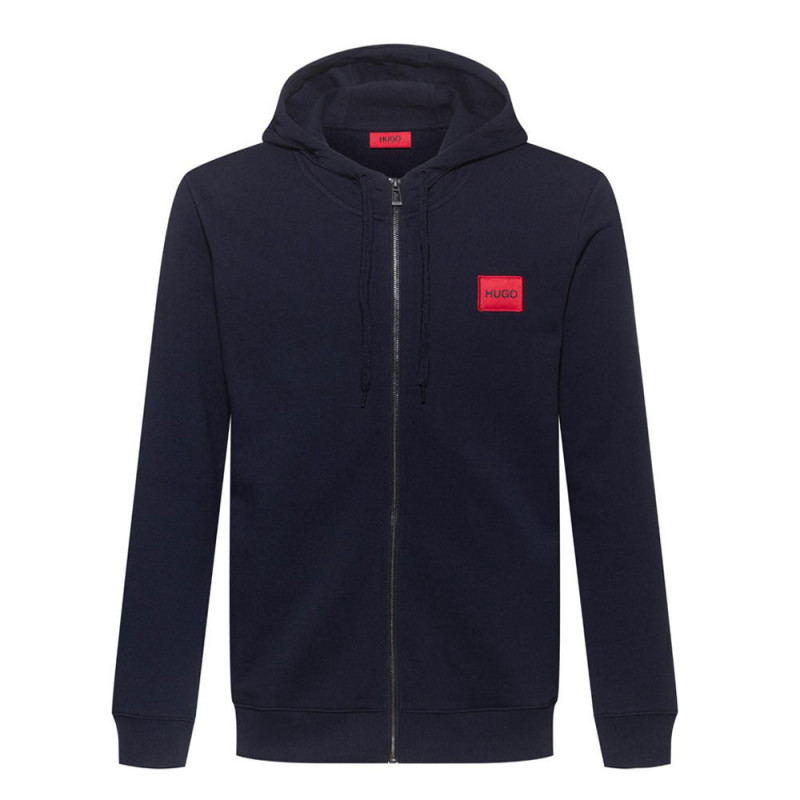 Sweat zippé Hugo Boss Daple 212 en molleton de coton avec patch logo