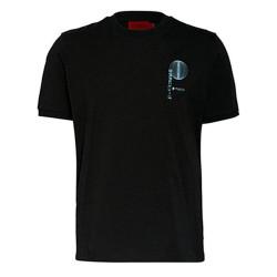 T-shirt Hugo Boss Dafu en coton biologique avec motif artistique inspiré de l'Asie