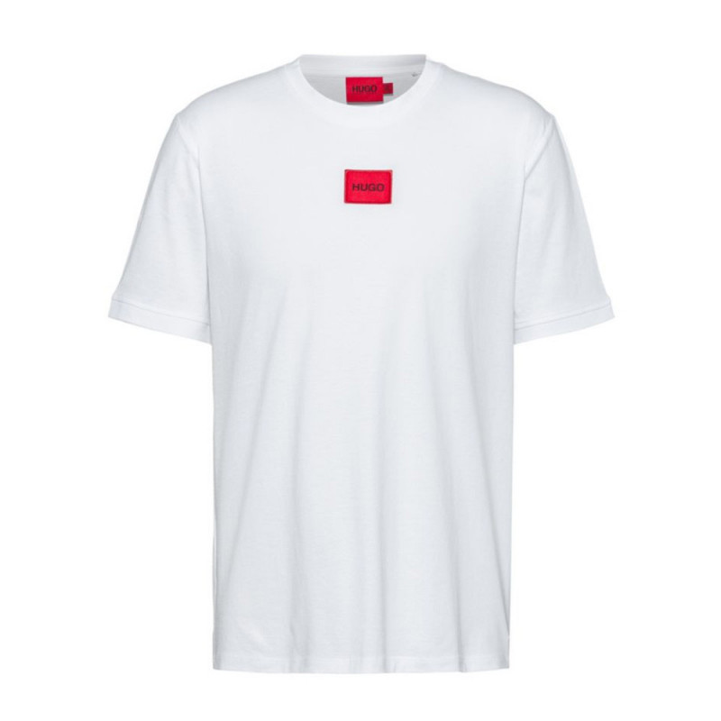 T-shirt Hugo Boss Diragolino 212 Regular Fit en coton avec étiquette logo rouge
