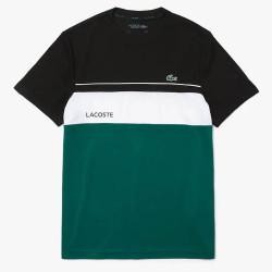T-shirt Lacoste SPORT à col rond respirant color-block