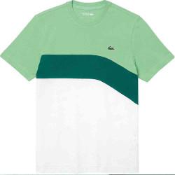 T-shirt Tennis Lacoste SPORT en coton ultra léger color-block