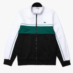 Sweatshirt zippé Lacoste SPORT en piqué résistant color-block