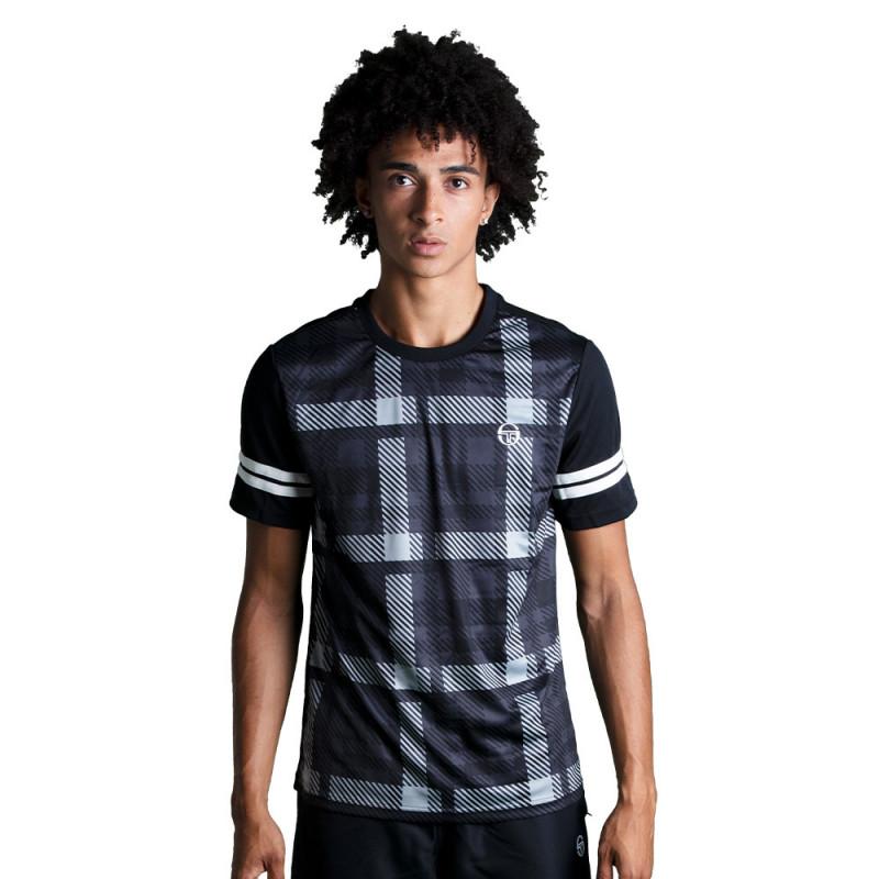 T-shirt Sergio Tacchini Allan Noir