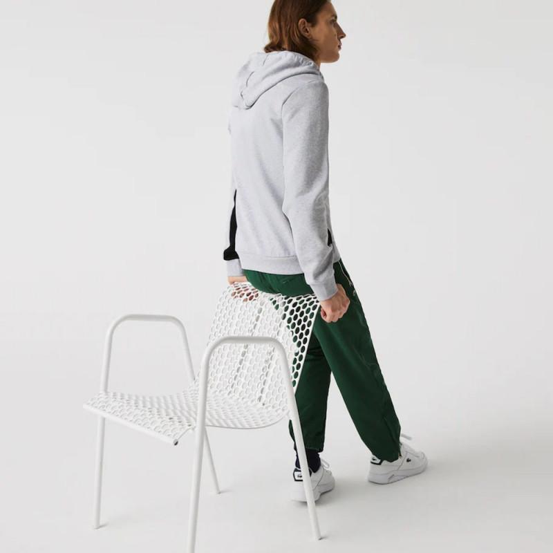 Sweatshirt zippé à capuche Lacoste en molleton color-block