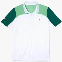 Polo Tennis Lacoste SPORT respirant color-block