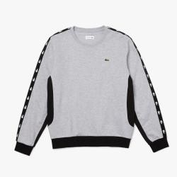 Sweatshirt Lacoste à col rond en molleton color-block GRIS