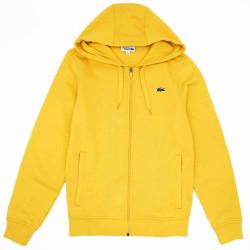 Sweatshirt à capuche Lacoste SPORT léger bi-matière Jaune