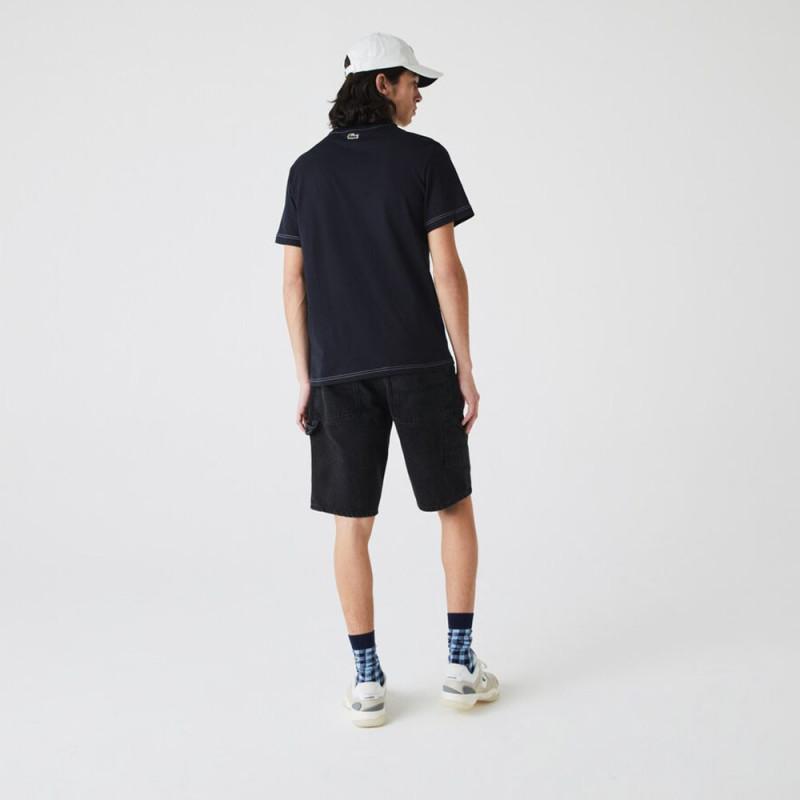 T-shirt Lacoste à col rond en coton imprimé Lacoste 27