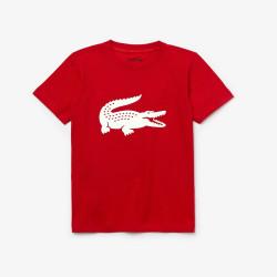 T-shirt Garçon Tennis Lacoste SPORT crocodile oversize Rouge