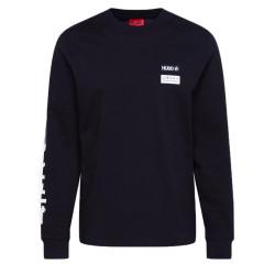 T-shirt Hugo Boss Dochi à manches longues en coton à motif artistique style motard