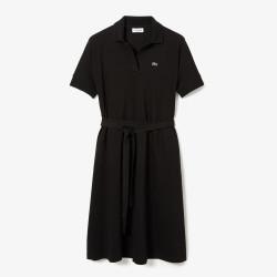 Robe polo Lacoste loose fit Noir à col V cintrée