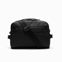 Besace Lacoste On The Go en toile résistante avec bandoulière amovible Noir